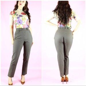 Gap Brown Striped High Waist Cotton Trouser Pants